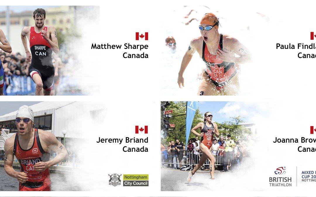 Jérémy Briand et Équipe Canada en bronze à la Coupe de relais mixe de Nottingham !